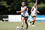CARY, NC - JULY 06: Caitlin Cosme. The North Carolina Courage held a training session on July 6, 2017, at WakeMed Soccer Park Field 3 in Cary, NC.