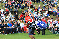 Kyle Roadley (Caddy) on the 16th green during Round 4 of Made in Denmark at Himmerland Golf &amp; Spa Resort, Farso, Denmark. 27/08/2017<br /> Picture: Golffile | Thos Caffrey<br /> <br /> All photo usage must carry mandatory copyright credit     (&copy; Golffile | Thos Caffrey)