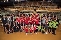 Februari 08, 2015, Apeldoorn, Omnisport, Fed Cup, Netherlands-Slovakia, <br /> Photo: Tennisimages/Henk Koster