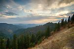 Idaho, North, Kootenai County, Coeur d'Alene National Forest. A autumn view over the Coeur d'Alene District of the Idaho Panhandle national Forest.
