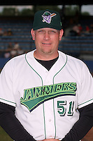June 27th 2008:  Manager Darin Everson of the Jamestown Jammers, Class-A affiliate of the Florida Marlins, during a game at Russell Diethrick Park in Jamestown, NY.  Photo by:  Mike Janes/Four Seam Images