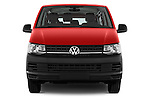Car photography straight front view of a 2016 Volkswagen Transporter - 5 Door Passenger Van Front View