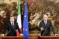 Roma, 15 Giugno 2013<br /> Palazzo Chigi<br /> Incontro tra il presidente del Consiglio dei Ministri, Enrico Letta, e il presidente della Commissione Europea, Jos&eacute; Manuel Durao Barroso.