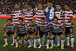 11 September 2012: U.S. starters. Front row (l to r): Jose Francisco Torres (USA), Graham Zusi (USA), Steve Cherundolo (USA), Fabian Johnson (USA), Herculez Gomez (USA). Back row (l to r): Clint Dempsey (USA), Danny Williams (USA), Geoff Cameron (USA), Tim Howard (USA), Carlos Bocanegra (USA), Jermaine Jones (USA). The United States Men's National Team defeated the Jamaica Men's National Team 1-0 at Columbus Crew Stadium in Columbus, Ohio in a CONCACAF Third Round World Cup Qualifying match for the FIFA 2014 Brazil World Cup.