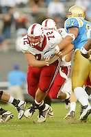 Dustin Stimson during Stanford's 28-18 loss to UCLA on October 26, 2002 in Los Angeles, CA.<br />