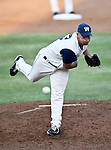 Fort Worth Cats Pitcher Justin Holloway (23) in action during the American Association of Independant Professional Baseball game between the Grand Prairie AirHogs and the Fort Worth Cats at the historic LaGrave Baseball Field in Fort Worth, Tx. Fort Worth defeats Grand Prairie 6 to 1.....