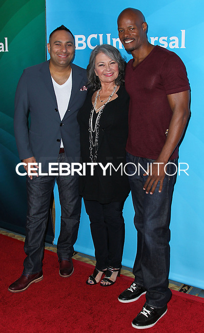 PASADENA, CA, USA - APRIL 08: Russell Peters, Roseanne Barr, Keenen Ivory Wayans at the NBCUniversal Summer Press Day 2014 held at The Langham Huntington Hotel and Spa on April 8, 2014 in Pasadena, California, United States. (Photo by Xavier Collin/Celebrity Monitor)