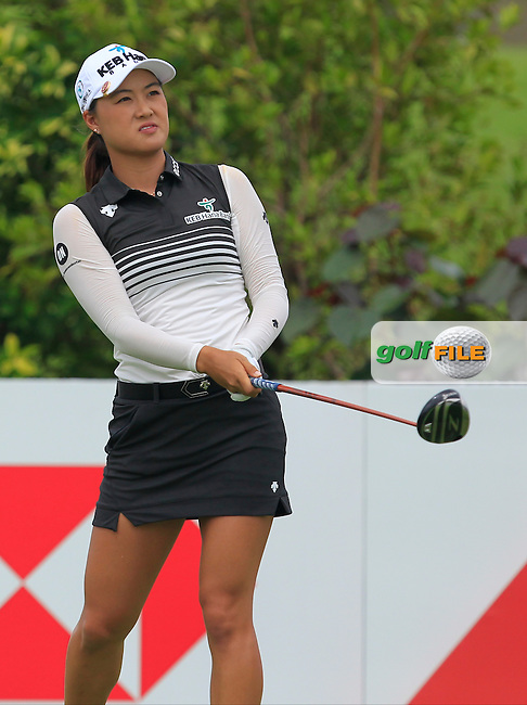 Minjee Lee (AUS) on the 6th tee during Round 2 of the HSBC Women's Champions on Friday 3rd March 2017.<br /> Picture:  Thos Caffrey / Golffile