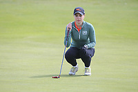Darcey Harry (WAL) on the 8th green during Round 3 of the Irish Women's Open Stroke Play Championship 2018 on Sunday 13th May 2018.<br /> Picture:  Thos Caffrey / Golffile<br /> <br /> All photo usage must carry mandatory copyright credit (&copy; Golffile | Thos Caffrey)