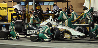 10/19/13 Fontana, CA: Ed Carpenter n the pits during the MAVTV 500 held at the Auto Club Speedway.