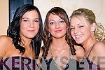DANCING: Ciara O'Sullivan, Kirsty McCarthy and Lisa Keane who danced the night away in The Abbey Gate Hotel, Tralee at the Green Debs......