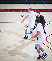 STANFORD, CA - January 5, 2019: Eric Beatty at Maples Pavilion. The Stanford Cardinal defeated UC Santa Cruz 25-11, 25-17, 25-15.