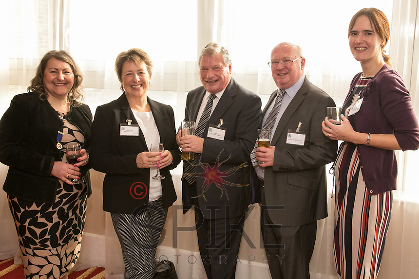From left are Deborah Labbate of Deborah Labbate Business Solutions, Caroline Elliott of Shakespeare Martineau, Len Simmonds of Nottingham Workplace Chaplaincy, Ron Glen of Ron Glen Management Services and Becky Flannagan of Shakespeare Martineau