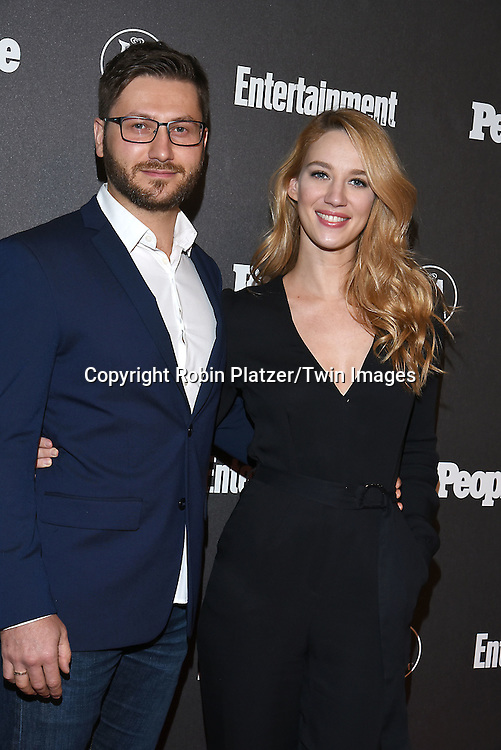 Yael Grobglas and     attends the Entertainment Weekly &amp; PEOPLE Magazine New York Upfronts Celebration on May 16, 2016 at Cedar Lake in New York, New York, USA.<br /> <br /> photo by Robin Platzer/Twin Images<br />  <br /> phone number 212-935-0770