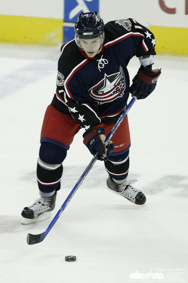 20 October 2006: Columbus Blue Jackets' Gilbert Brule plays against the Toronto Maple Leafs at Nationwide Arena in Columbus, Ohio.<br />
