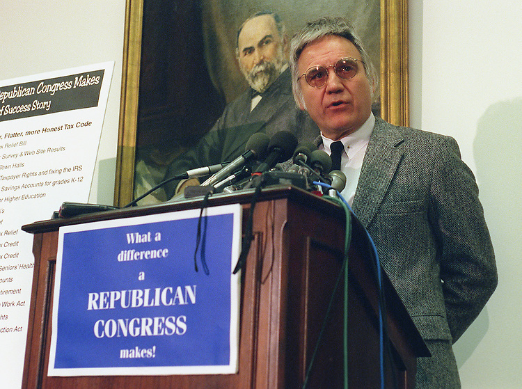 11/05/97.IRS REFORM--James A. Traficant, D-Ohio, at a news conference on IRS reform..CONGRESSIONAL QUARTERLY PHOTO BY SCOTT J. FERRELL