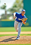 15 March 2008: Los Angeles Dodgers' pitcher Scott Proctor on the mound during a Spring Training game against the Washington Nationals at Space Coast Stadium, in Viera, Florida...Mandatory Photo Credit: Ed Wolfstein Photo