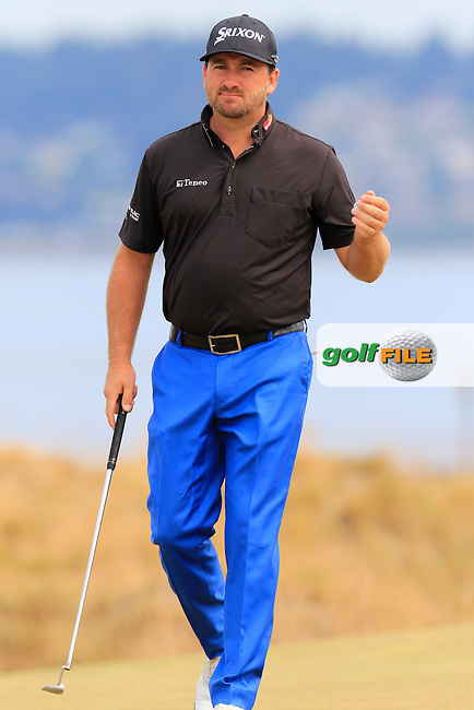 Graeme McDOWELL (NIR) putts on the 17th green during Thursday's Round 1 of the 2015 U.S. Open 115th National Championship held at Chambers Bay, Seattle, Washington, USA. 6/18/2015.<br /> Picture: Golffile | Eoin Clarke<br /> <br /> <br /> <br /> <br /> All photo usage must carry mandatory copyright credit (&copy; Golffile | Eoin Clarke)