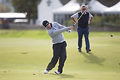 3rd October 2017, The Old Course, St Andrews, Scotland; Alfred Dunhill Links Championship, practice round; George Goetzee of South Africa hits a shot from the fairway on the second hole during a practice round on the Old Course, St Andrews, ahead of the Alfred Dunhill Links Championship