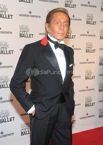 New York, NY- May 8: Designer Valentino Garavani attends the 2014 New York City Ballet Spring Gala at the David H. Koch Theater at Lincoln Center on May 8, 2014 in New York City.  Credit: John Palmer/MediaPunch