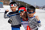 Yoshihiro Nitta (JPN),<br /> MARCH 14, 2018 - Cross-Country Skiing : <br /> Men's Sprint 1.5 km Standing flower ceremony<br /> at Alpensia Biathlon Centre   <br /> during the PyeongChang 2018 Paralympics Winter Games in Pyeongchang, South Korea. <br /> (Photo by Yusuke Nakanishi/AFLO SPORT)