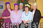 Eileen Cronin, Mary and Tom Grant, Barbara Dando and Elaine Scully at the Beaufort Community Care Christmas Party in the Community Centre on Sunday.