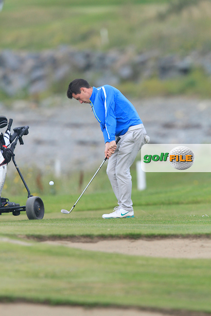 Rory Williamson (Holywood) on the 12th during Round 1 of the Irish Youths Amateur Close Championship in Ardglass Golf Club on Wednesday 27th August 2014.<br /> Picture:  Thos Caffrey / www.golffile.ie
