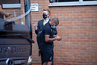 27th June 2020; Carrow Road, Norwich, England; FA Cup 6th round tie, Norwich City versus Manchester united; Teams arriving at the stadium pre-match;  Onel Hernández of Norwich arriving at Carrow Road