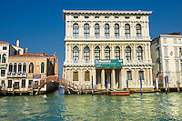 Palazzo Ca'Rezzonico built in 1649 by Baldassarre Longhena in a Baroque style on the Grand Canal Venice