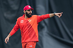 Misbah Ul-Haq of HKI United gestures during the DTC Hong Kong T20 Blitz match between HKI United vs City Kaitak on 12 March 2017, in Tin Kwong Road Recreation Ground, Hong Kong, China. Photo by Chris Wong / Power Sport Images