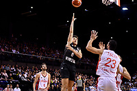New Zealand Tall Blacks&rsquo; Derone Raukawa in action during the FIBA World Cup Basketball Qualifier - NZ Tall Blacks v Syria at TSB Bank Arena, Wellington, New Zealand on Sunday 2 2018. <br /> Photo by Masanori Udagawa. <br /> www.photowellington.photoshelter.com