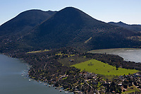 aerial photograph of the Buckingham Peninsula, (Buckingham Park), Mount Konocti, Lake County, California