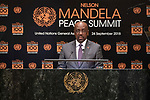 Opening Plenary Meeting of the Nelson Mandela Peace Summit<br /> <br /> Antigua and Barbuda FM