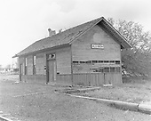 D&amp;RGW Allison, Colorado depot in poor condition but this shows details of construction.<br /> D&amp;RGW  Allison, CO  Taken by Morse, Ron - 5/25/1965