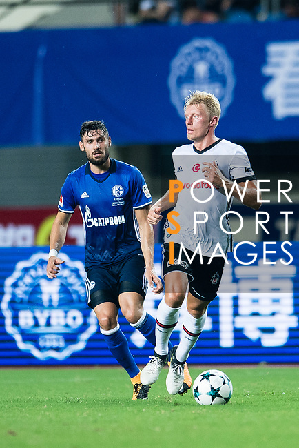 Besiktas Istambul Defender Andreas Beck (R) in action during the Friendly Football Matches Summer 2017 between FC Schalke 04 Vs Besiktas Istanbul at Zhuhai Sport Center Stadium on July 19, 2017 in Zhuhai, China. Photo by Marcio Rodrigo Machado / Power Sport Images