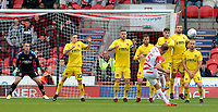 Doncaster Rovers' Herbie Kane has a shot at goal during the first half<br /> <br /> Photographer David Shipman/CameraSport<br /> <br /> The EFL Sky Bet League One - Doncaster Rovers v Fleetwood Town - Saturday 6th October 2018 - Keepmoat Stadium - Doncaster<br /> <br /> World Copyright &copy; 2018 CameraSport. All rights reserved. 43 Linden Ave. Countesthorpe. Leicester. England. LE8 5PG - Tel: +44 (0) 116 277 4147 - admin@camerasport.com - www.camerasport.com