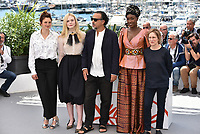 CANNES, FRANCE - MAY 14: (L-R) Jury members Alice Rohrwacher, Elle Fanning wearing Chopard, Alejandro Gonzalez Inarritu, Maimouna N'Diaye and Kelly Reichardt attend the Jury photocall during the 72nd annual Cannes Film Festival on May 14, 2019 in Cannes, France. <br /> CAP/PL<br /> ©Phil Loftus/Capital Pictures