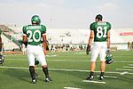 DENTON, TX  SEPTEMBER 9: Jamario Thomas #20 and Johnny Quinn #81 - University of North Texas Mean Green vs Southern Methodist University Mustangs at Fouts Field in Denton on September 9, 2006 in Denton, TX. NT won 24-6. Photo by Rick Yeatts