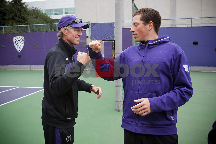 Marton Bots-Matt Anger - Head Coach-University of Washington Huskies men's tennis team takes on the University of Arizona Wildcats in Seattle Sunday, April 15, 2012. (Photos by Andy Rogers/Red Box Pictures)