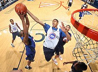 Anthony Davis at the NBPA Top100 camp June 18, 2010 at the John Paul Jones Arena in Charlottesville, VA. Visit www.nbpatop100.blogspot.com for more photos. (Photo © Andrew Shurtleff)