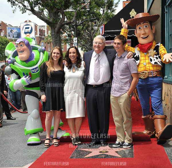 Composer Randy Newman & family on Hollywood Boulevard where Newman was honored today with a star on the Hollywood Walk of Fame..June 2, 2010  Los Angeles, CA.Picture: Paul Smith / Featureflash