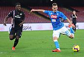 2nd February 2019, Stadio San Paolo, Naples, Italy; Serie A football, Napoli versus Sampdoria; Arkadiusz Milik of Napoli takes a shot on goal