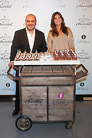 Fashion designer Lourdes Montes and pastry chef Alejandro Montes pose during the Baileys Chocolat Luxe presentation in Madrid, Spain. December 10, 2014. (ALTERPHOTOS/Victor Blanco) /NortePhoto