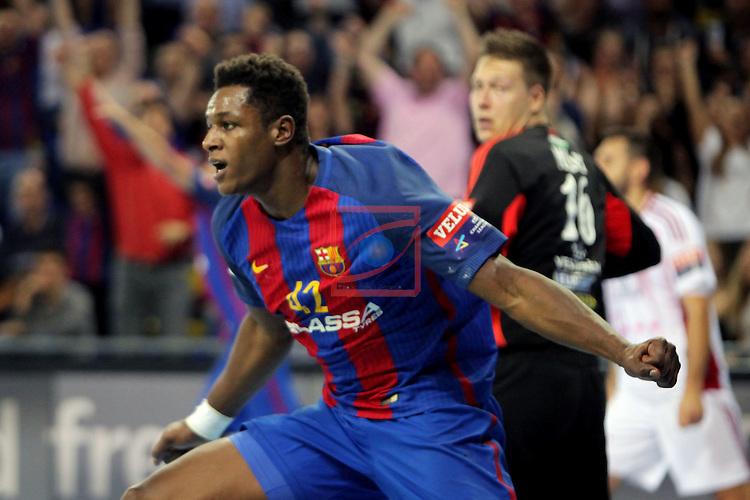 VELUX EHF <br /> 2016/17 EHF Men's Champions League Group Phase - Round 5.<br /> FC Barcelona Lassa vs Telekom Veszprem: 26-23.<br /> Wael Jallouz.