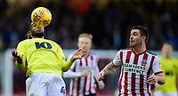 Blackburn Rovers' Kasey Palmer vies for possession with Sheffield United's John Fleck<br /> <br /> Photographer Chris Vaughan/CameraSport<br /> <br /> The EFL Sky Bet Championship - Sheffield United v Blackburn Rovers - Saturday 29th December 2018 - Bramall Lane - Sheffield<br /> <br /> World Copyright © 2018 CameraSport. All rights reserved. 43 Linden Ave. Countesthorpe. Leicester. England. LE8 5PG - Tel: +44 (0) 116 277 4147 - admin@camerasport.com - www.camerasport.com