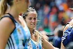 The Hague, Netherlands, June 14: Rocio Sanchez Moccia #17 of Argentina looks on after the field hockey bronze medal match (Women) between USA and Argentina on June 14, 2014 during the World Cup 2014 at Kyocera Stadium in The Hague, Netherlands. Final score 2-1 (2-1)  (Photo by Dirk Markgraf / www.265-images.com) *** Local caption ***
