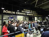 SAO PAULO - SP -  21 DE ABRIL 2013. MASSACRE CARANDIRU, O Tribunal do Júri condenou na madrugada deste domingo (21) 23 dos 26 policiais militares acusados pela morte de 13 detentos que estavam no segundo pavimento do pavilhão 9, na extinta Casa de Detenção, no Forum da Barra Funda, na zona oeste da capital paulista. FOTO: MAURICIO CAMARGO / BRAZIL PHOTO PRESS.