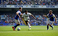 Ipswich Town's Callum Elder battles with Swansea City's Wayne Routledge<br /> <br /> Photographer Hannah Fountain/CameraSport<br /> <br /> The EFL Sky Bet Championship - Ipswich Town v Swansea City - Monday 22nd April 2019 - Portman Road - Ipswich<br /> <br /> World Copyright © 2019 CameraSport. All rights reserved. 43 Linden Ave. Countesthorpe. Leicester. England. LE8 5PG - Tel: +44 (0) 116 277 4147 - admin@camerasport.com - www.camerasport.com