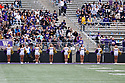 SEATTLE, WA - SEPTEMBER 14: Washington Cheer members during the college football game between the Washington Huskies and the Hawaii Rainbow Warriors on September 14, 2019 at Husky Stadium in Seattle, WA.