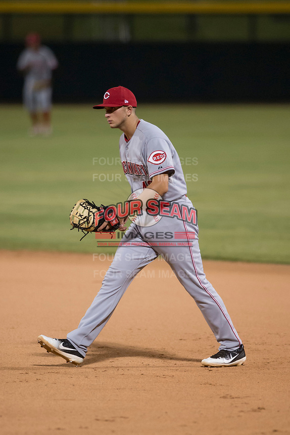 AZL Reds first baseman Leonardo Seminati (40) during an Arizona League game against the AZL Cubs 1 at Sloan Park on July 13, 2018 in Mesa, Arizona. The AZL Cubs 1 defeated the AZL Reds 4-1. (Zachary Lucy/Four Seam Images)